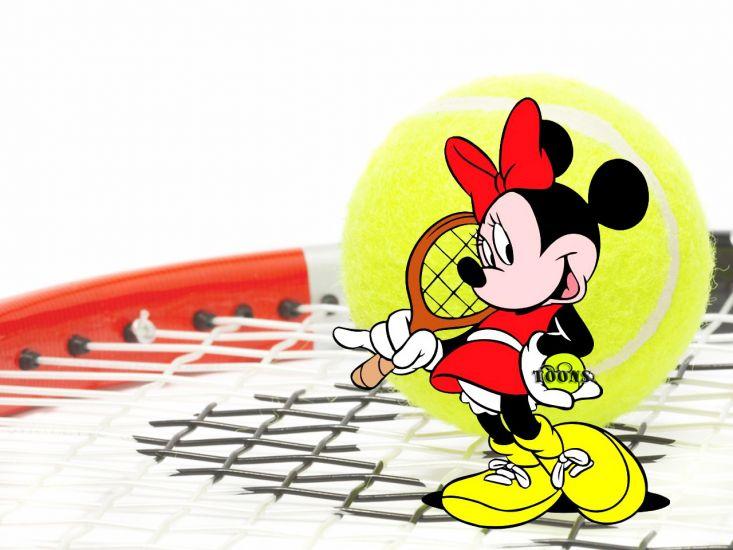 Сублимации Минни маус теннис