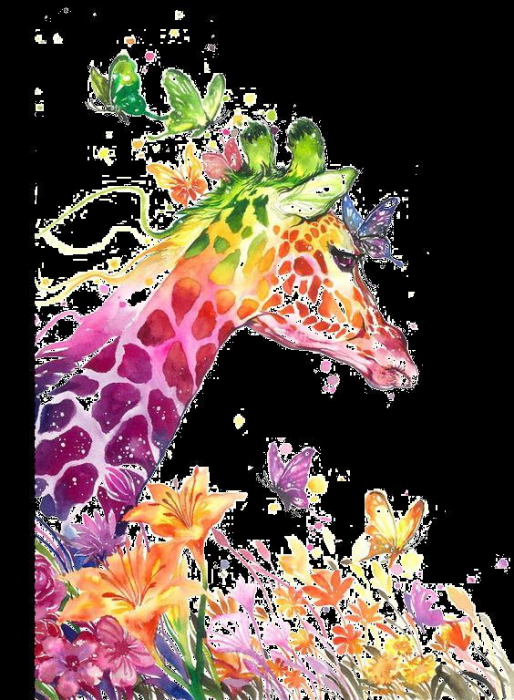 Сублимация жираф бабочки