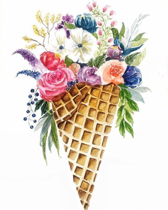 Сублимации цветы конус 1