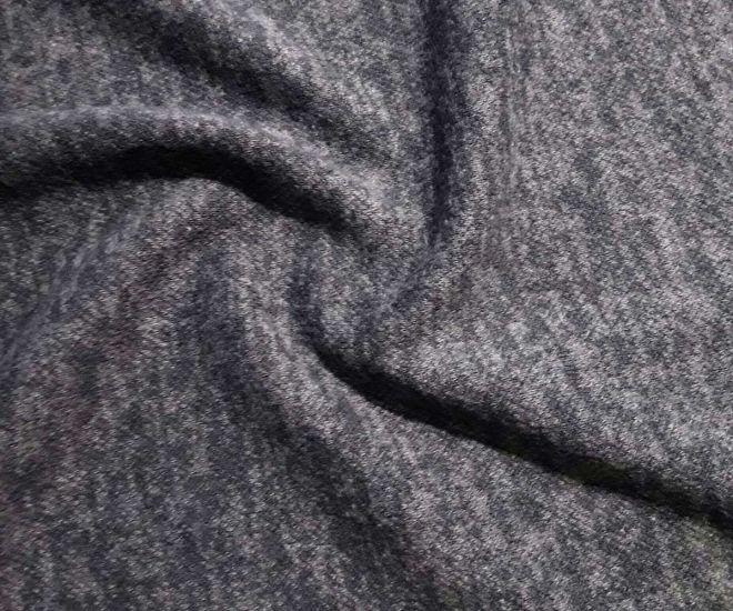 Плательный меланж с ворсом цвет серый