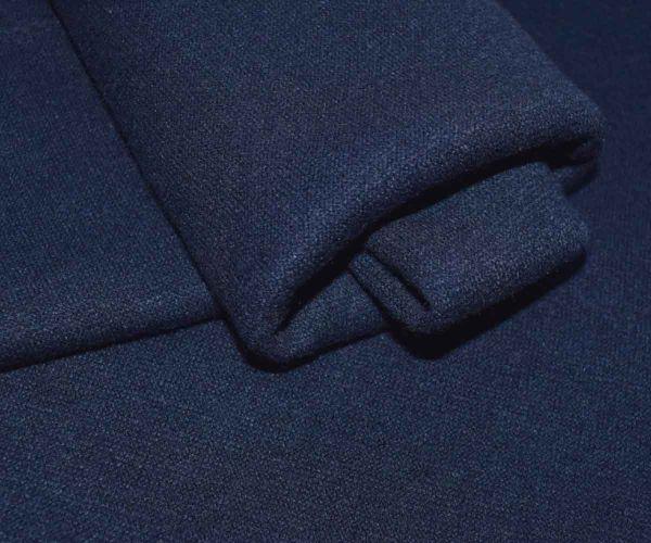Трикотаж ангора плотная двусторонняя цвет тёмно синий