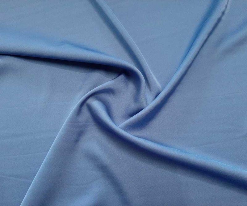 Шелк Армани полированный цвет голубой джинс (пыльный голубой)