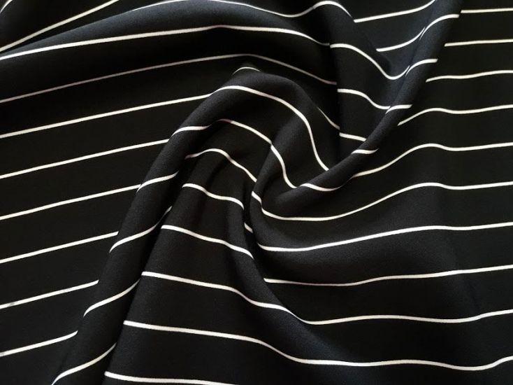 Костюмная ткань барби принт полоска цвет белый чёрный
