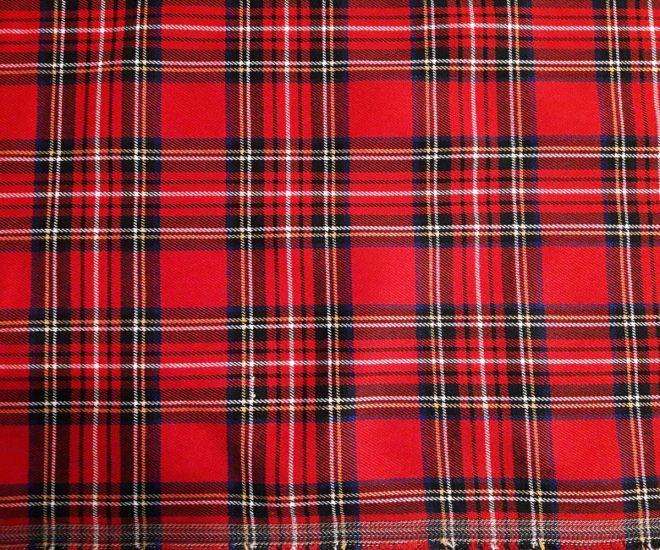 костюмка шерсть клетка шотландская цвет красный