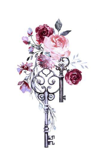 Сублимация ключи цветы