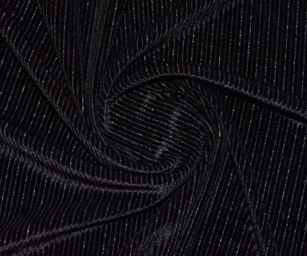 Велюр стрейч люрекс цвет чёрный