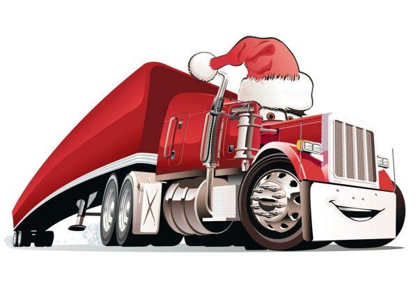Сублимация  christmas truck 4