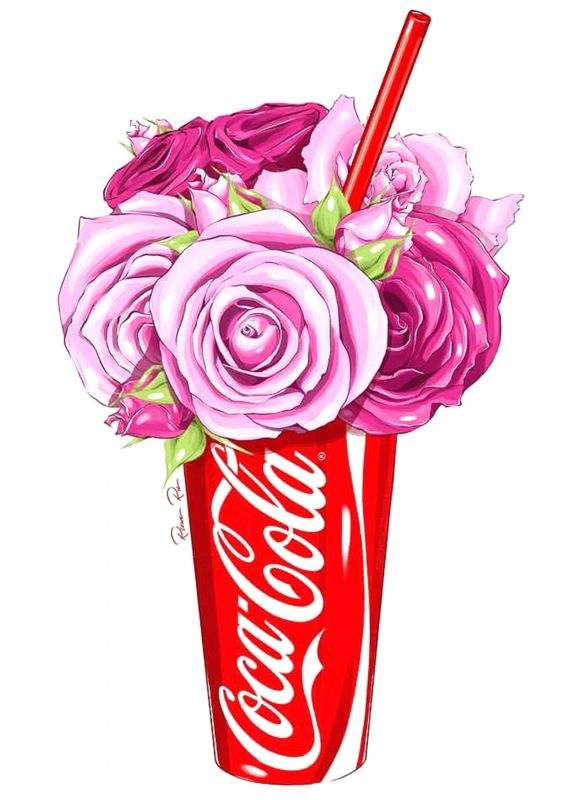 Сублимация coca cola розы