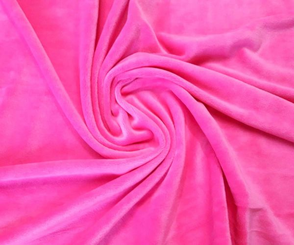 Велюр плюшевый цвет розовый неон