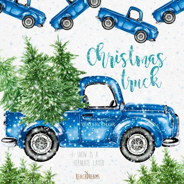 Сублимация  christmas truck 3
