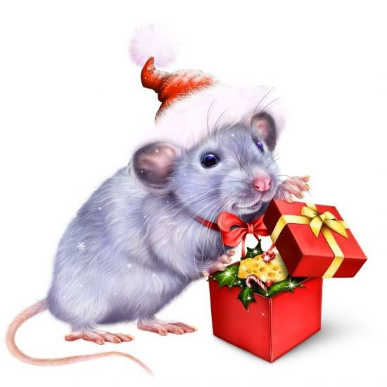 Сублимация год мышки подарок