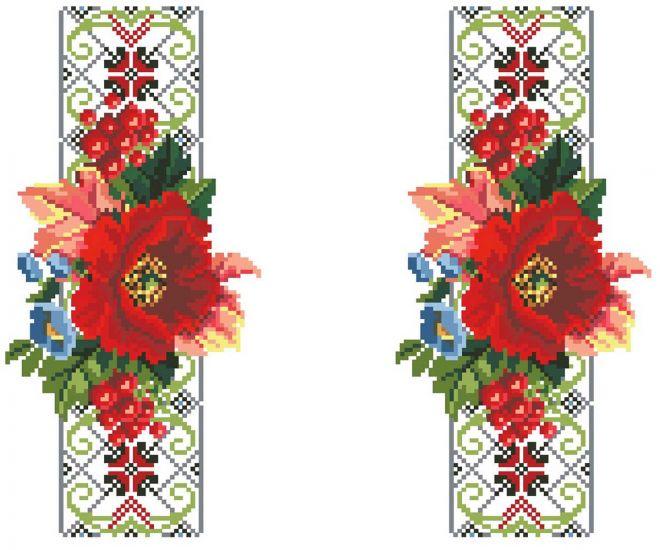 Сублимации Цветы вышивка 1 рукава