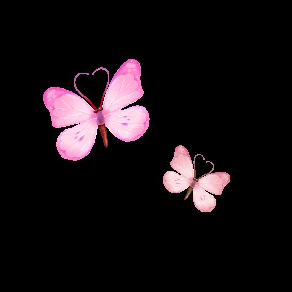 Сублимация бабочки розовые