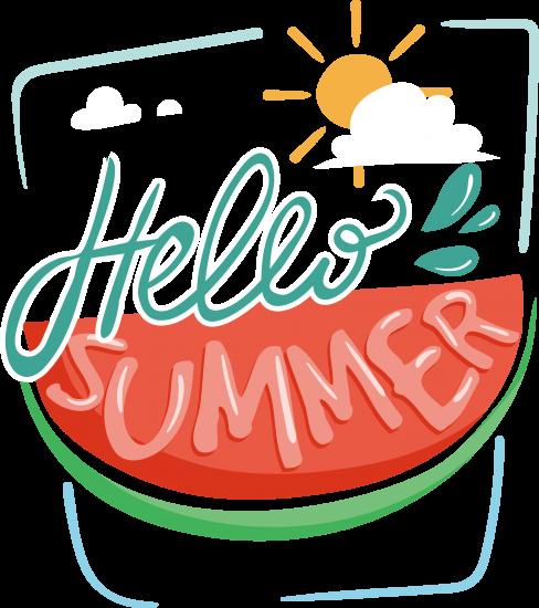Сублимация привет лето арбуз