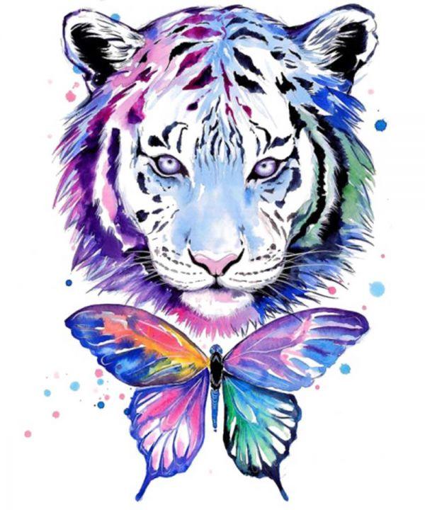 Сублимация тигр с бабочкой