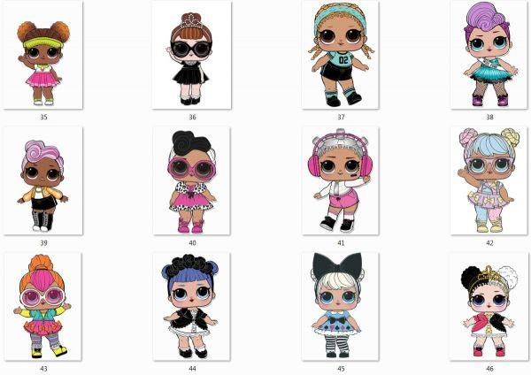 Сублимация куклы лол на выбор 35-46