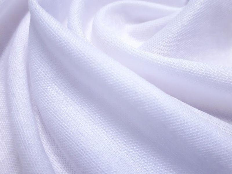 Трикотаж микролакоста цвет белый
