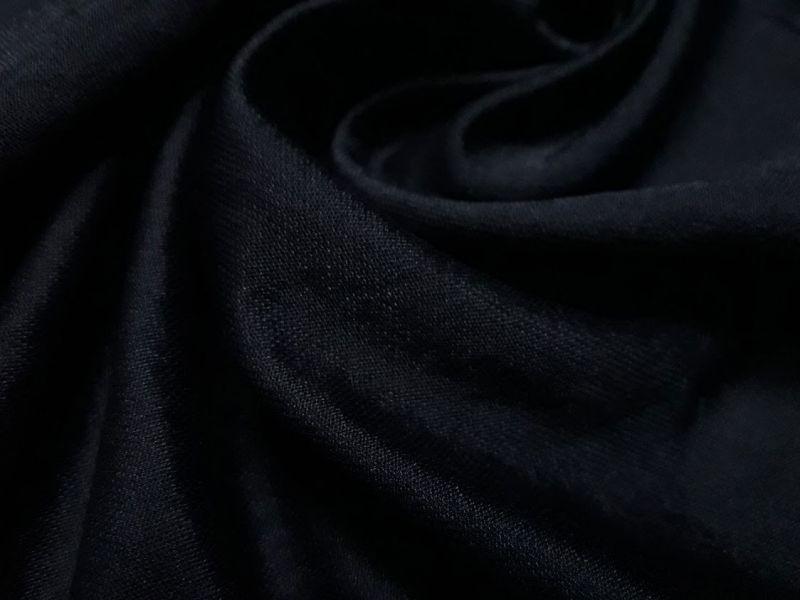 Трикотаж микролакоста цвет чёрный