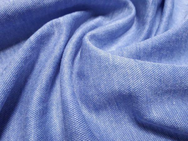 Трикотаж мікролакоста колір блакитний джинс меланж відріз 0,8м