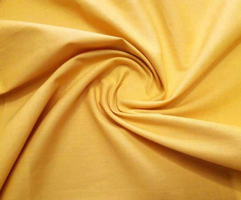 Лен стрейч однотонный цвет горчица 399