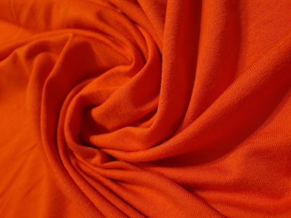 Вискозный трикотаж цвет оранж фанта