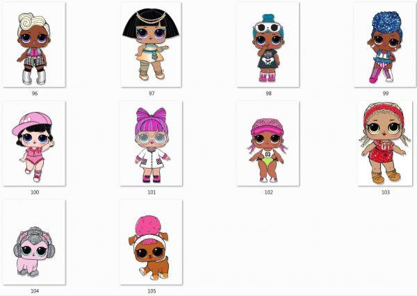 Сублимация куклы лол на выбор 96-105