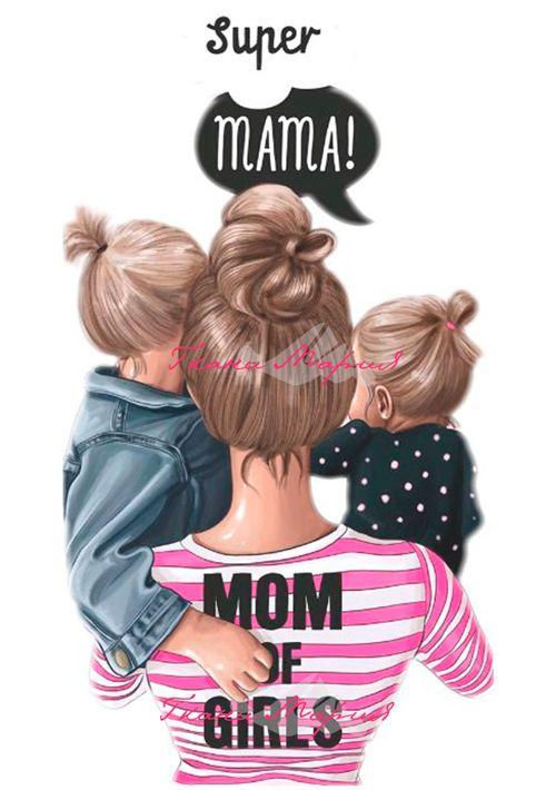 Сублимация мама двух девочек