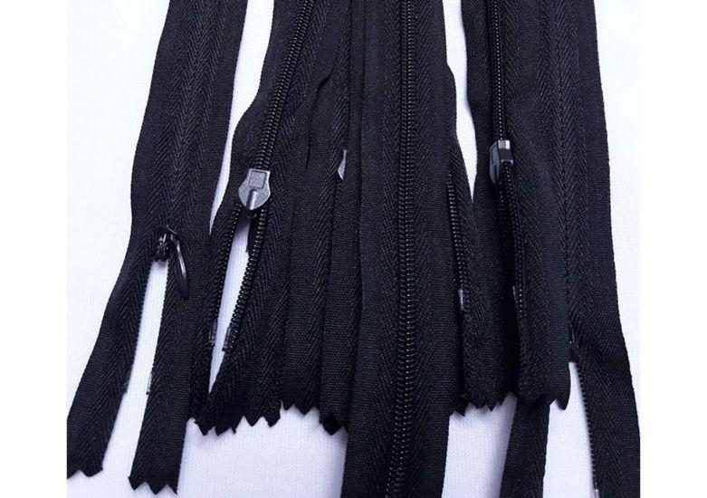 Молния потайная 50см цвет чёрный