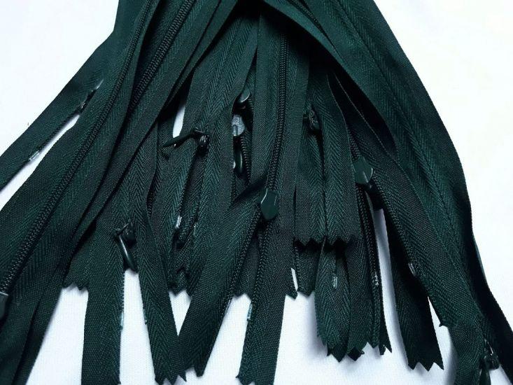 Молния потайная 50см цвет тёмно зелёный