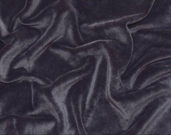 Велюр плюшевый цвет тёмно серый дымчатый