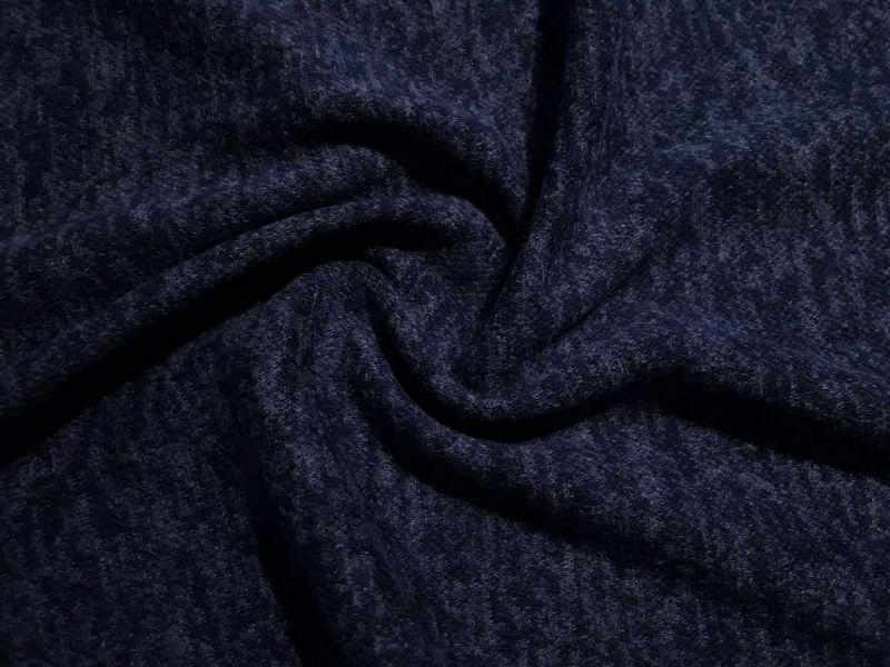 Плательный меланж с ворсом цвет тёмносиний