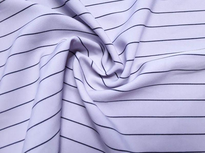 Костюмная ткань барби принт полоска цвет серый
