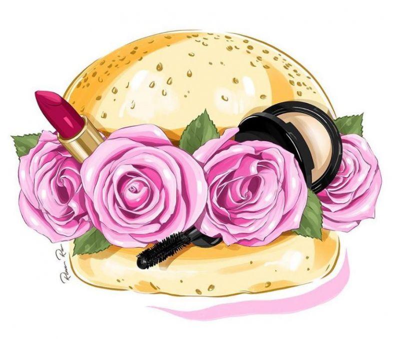 Сублимация бургер розы