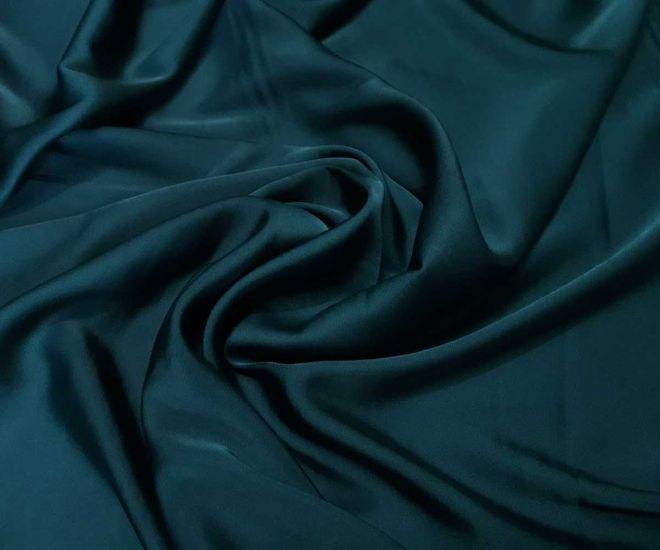 Шелк Армани полированный цвет тёмно зелёный изумрудный