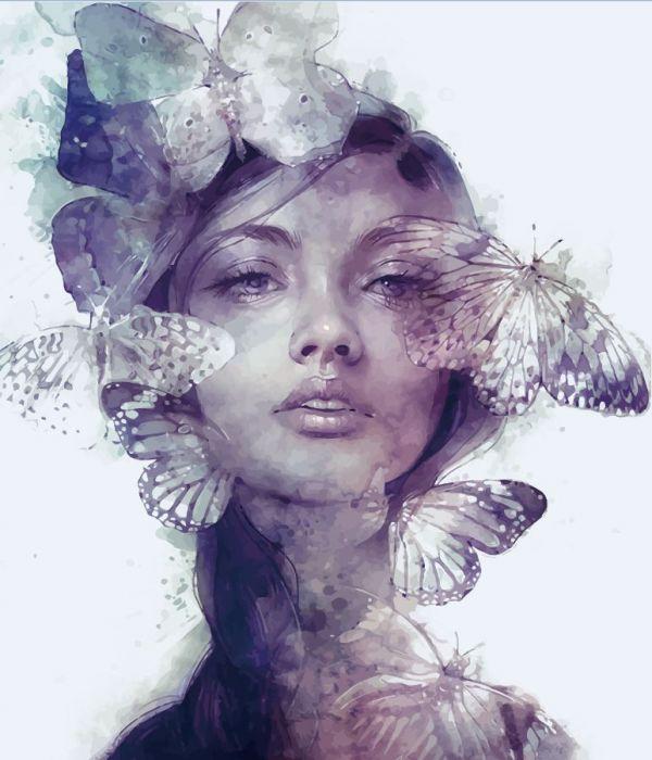 Сублимация девушка в бабочках