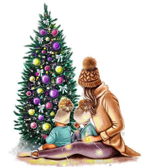 Сублимация marry christmas семья