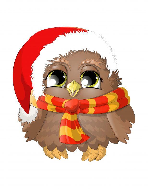 Сублимация совёнок новогодний