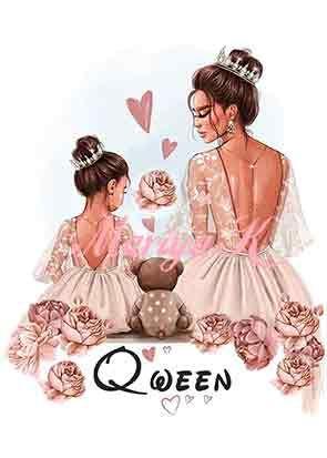 Сублимации Мама королева
