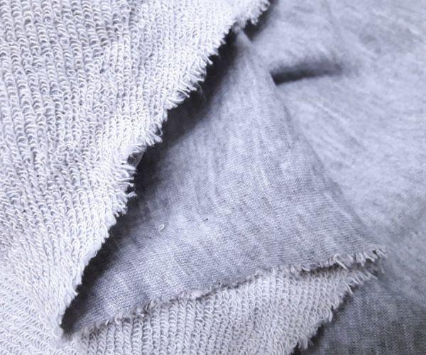 Трехнитка хлопок петля цвет серый меланж