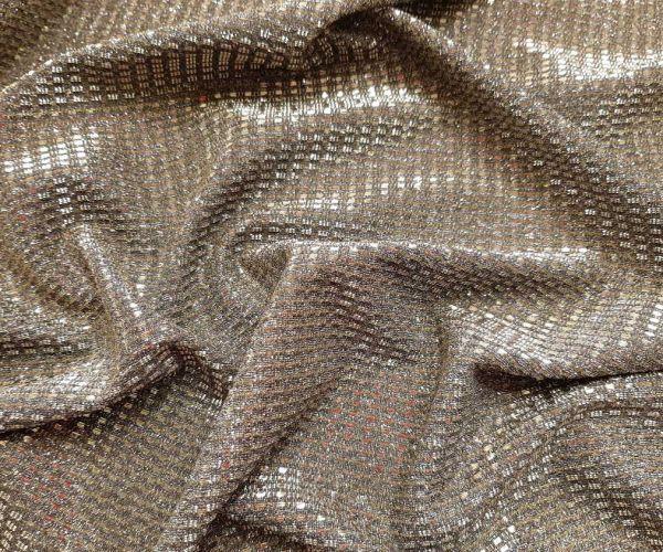 Трикотаж люрекс глитер цвет светлое золото