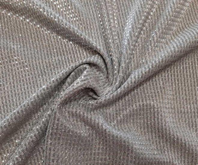 Трикотаж люрекс глитер цвет серебро