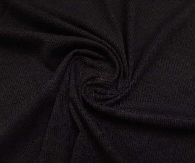 Трикотаж резинка цвет чёрный