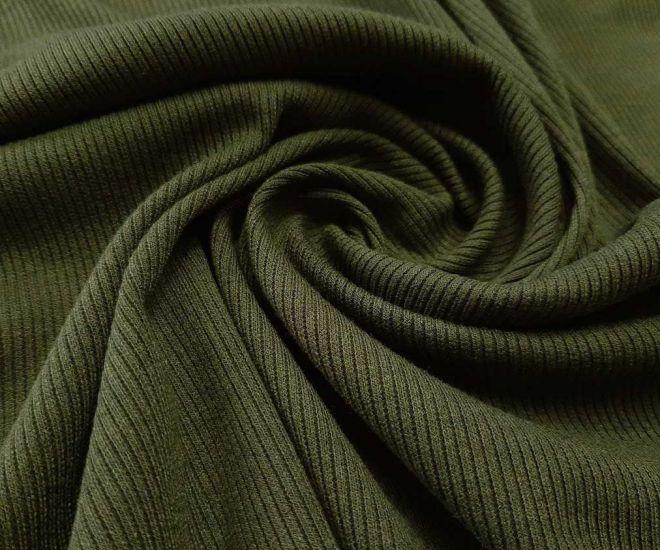 Трикотаж резинка цвет хаки (зелёный)