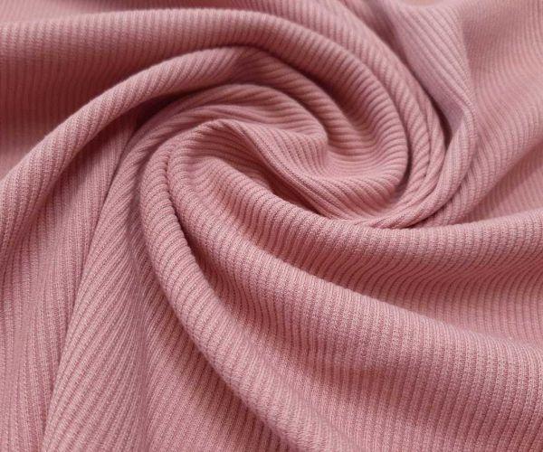 Трикотаж резинка цвет пыльная роза