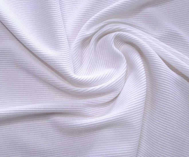 Трикотаж резинка цвет белый молочный оттенок