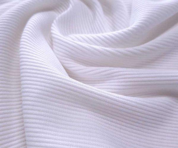 Трикотаж резинка цвет белый