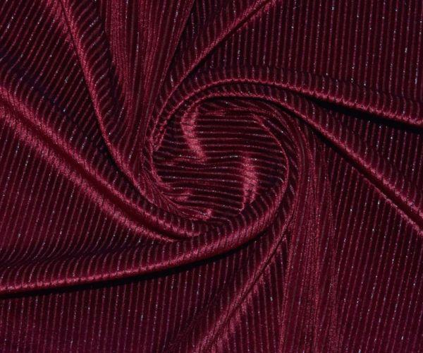 Велюр стрейч люрекс цвет бордо марсала