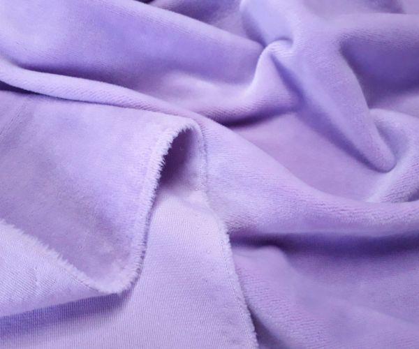 Велюр плюшевый цвет лиловый