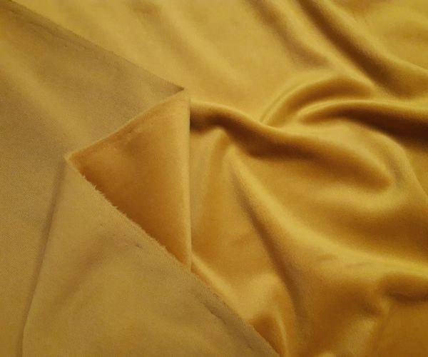 Велюр суперсофт би-стрейч плюшевый цвет горчица
