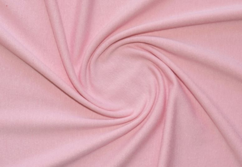 Трикотаж вискозный цвет нежно розовый